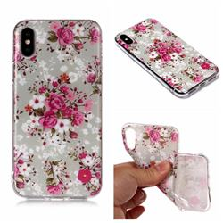 Rose Flower Matte Soft TPU Back Cover for iPhone XS Max (6.5 inch)