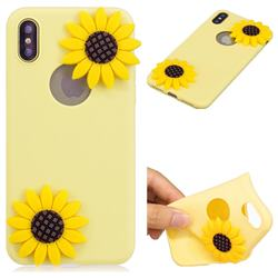 Yellow Sunflower Soft 3D Silicone Case for iPhone XS Max (6.5 inch)