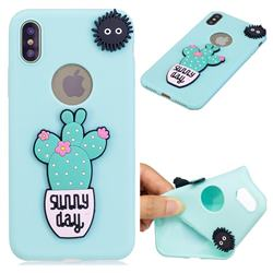 Cactus Flower Soft 3D Silicone Case for iPhone XS Max (6.5 inch)