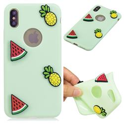 Watermelon Pineapple Soft 3D Silicone Case for iPhone XS Max (6.5 inch)