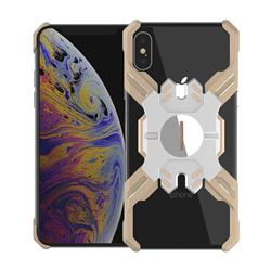 Heroes All Metal Frame Coin Kickstand Car Magnetic Bumper Phone Case for iPhone XS Max (6.5 inch) - Golden