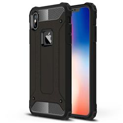 King Kong Armor Premium Shockproof Dual Layer Rugged Hard Cover for iPhone XS Max (6.5 inch) - Black Gold