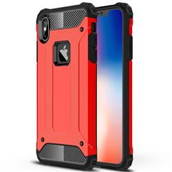 King Kong Armor Premium Shockproof Dual Layer Rugged Hard Cover for iPhone XS Max (6.5 inch) - Big Red