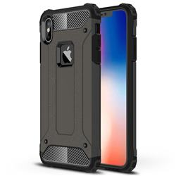 King Kong Armor Premium Shockproof Dual Layer Rugged Hard Cover for iPhone XS Max (6.5 inch) - Bronze