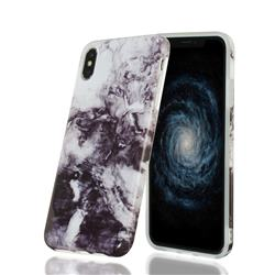 Smoke Ink Painting Marble Clear Bumper Glossy Rubber Silicone Phone Case for iPhone XS Max (6.5 inch)