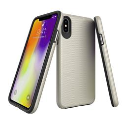 Triangle Texture Shockproof Hybrid Rugged Armor Defender Phone Case for iPhone XS Max (6.5 inch) - Golden