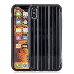 Suitcase Style Mobile Phone Back Cover for iPhone XS Max (6.5 inch) - Black