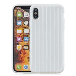 Suitcase Style Mobile Phone Back Cover for iPhone XS Max (6.5 inch) - White