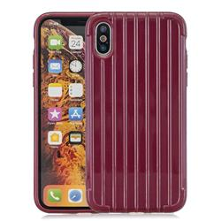 Suitcase Style Mobile Phone Back Cover for iPhone XS Max (6.5 inch) - Red
