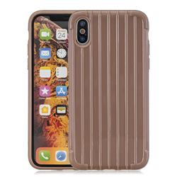 Suitcase Style Mobile Phone Back Cover for iPhone XS Max (6.5 inch) - Brown