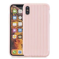 Suitcase Style Mobile Phone Back Cover for iPhone XS Max (6.5 inch) - Pink