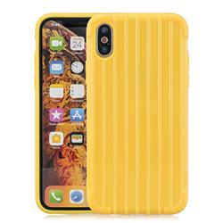 Suitcase Style Mobile Phone Back Cover for iPhone XS Max (6.5 inch) - Yellow