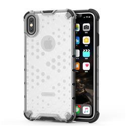 Honeycomb TPU + PC Hybrid Armor Shockproof Case Cover for iPhone XS Max (6.5 inch) - Transparent