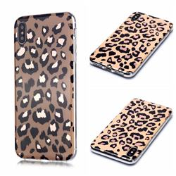 Leopard Galvanized Rose Gold Marble Phone Back Cover for iPhone XS Max (6.5 inch)