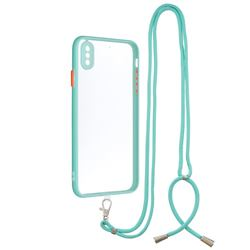 Necklace Cross-body Lanyard Strap Cord Phone Case Cover for iPhone XS Max (6.5 inch) - Blue