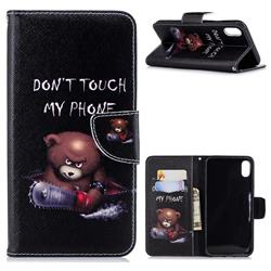 Chainsaw Bear Leather Wallet Case for iPhone XS Max (6.5 inch)