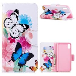 Vivid Flying Butterflies Leather Wallet Case for iPhone XS Max (6.5 inch)