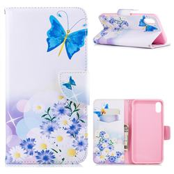 Butterflies Flowers Leather Wallet Case for iPhone XS Max (6.5 inch)