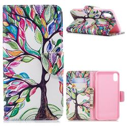 The Tree of Life Leather Wallet Case for iPhone XS Max (6.5 inch)