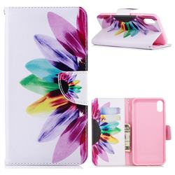 Seven-color Flowers Leather Wallet Case for iPhone XS Max (6.5 inch)