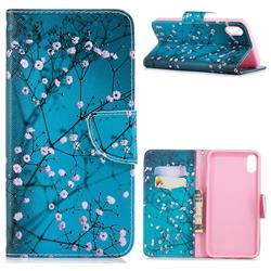 Blue Plum Leather Wallet Case for iPhone XS Max (6.5 inch)
