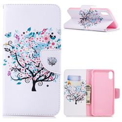 Colorful Tree Leather Wallet Case for iPhone XS Max (6.5 inch)