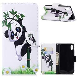 Bamboo Panda Leather Wallet Case for iPhone XS Max (6.5 inch)