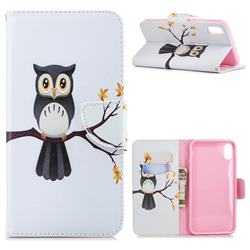 Owl on Tree Leather Wallet Case for iPhone XS Max (6.5 inch)