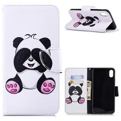 Lovely Panda Leather Wallet Case for iPhone XS Max (6.5 inch)