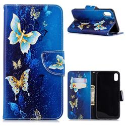 Golden Butterflies Leather Wallet Case for iPhone XS Max (6.5 inch)