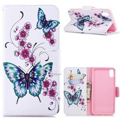 Peach Butterflies Leather Wallet Case for iPhone XS Max (6.5 inch)