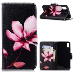 Lotus Flower Leather Wallet Case for iPhone XS Max (6.5 inch)
