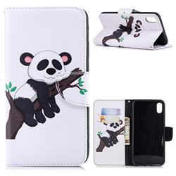 Tree Panda Leather Wallet Case for iPhone XS Max (6.5 inch)