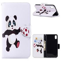 Football Panda Leather Wallet Case for iPhone XS Max (6.5 inch)