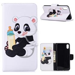 Baby Panda Leather Wallet Case for iPhone XS Max (6.5 inch)