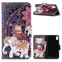 Totem Flower Elephant Leather Wallet Case for iPhone XS Max (6.5 inch)