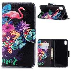 Flowers Flamingos Leather Wallet Case for iPhone XS Max (6.5 inch)