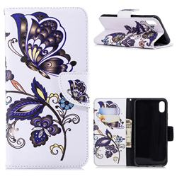 Butterflies and Flowers Leather Wallet Case for iPhone XS Max (6.5 inch)