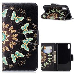 Circle Butterflies Leather Wallet Case for iPhone XS Max (6.5 inch)