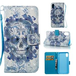 Cloud Kito 3D Painted Leather Wallet Case for iPhone XS Max (6.5 inch)