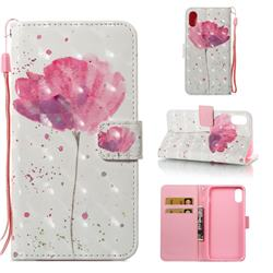 Watercolor 3D Painted Leather Wallet Case for iPhone XS Max (6.5 inch)