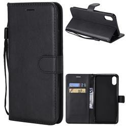 Retro Greek Classic Smooth PU Leather Wallet Phone Case for iPhone XS Max (6.5 inch) - Black