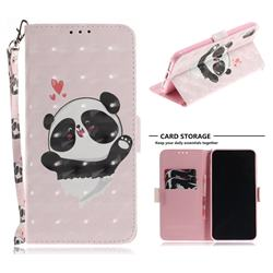 Heart Cat 3D Painted Leather Wallet Phone Case for iPhone XS Max (6.5 inch)