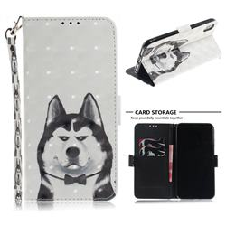 Husky Dog 3D Painted Leather Wallet Phone Case for iPhone XS Max (6.5 inch)