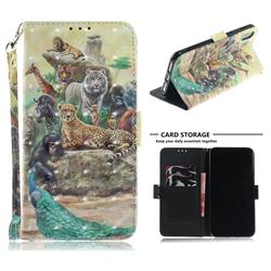 Beast Zoo 3D Painted Leather Wallet Phone Case for iPhone XS Max (6.5 inch)
