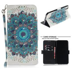 Peacock Mandala 3D Painted Leather Wallet Phone Case for iPhone XS Max (6.5 inch)