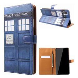 Police Box Leather Wallet Case for iPhone XS Max (6.5 inch)