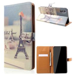 Eiffel Tower Leather Wallet Case for iPhone XS Max (6.5 inch)