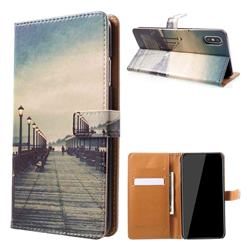 Retro Bridge Leather Wallet Case for iPhone XS Max (6.5 inch)
