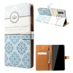 Crown Moroccan Leather Wallet Case for iPhone XS Max (6.5 inch)
